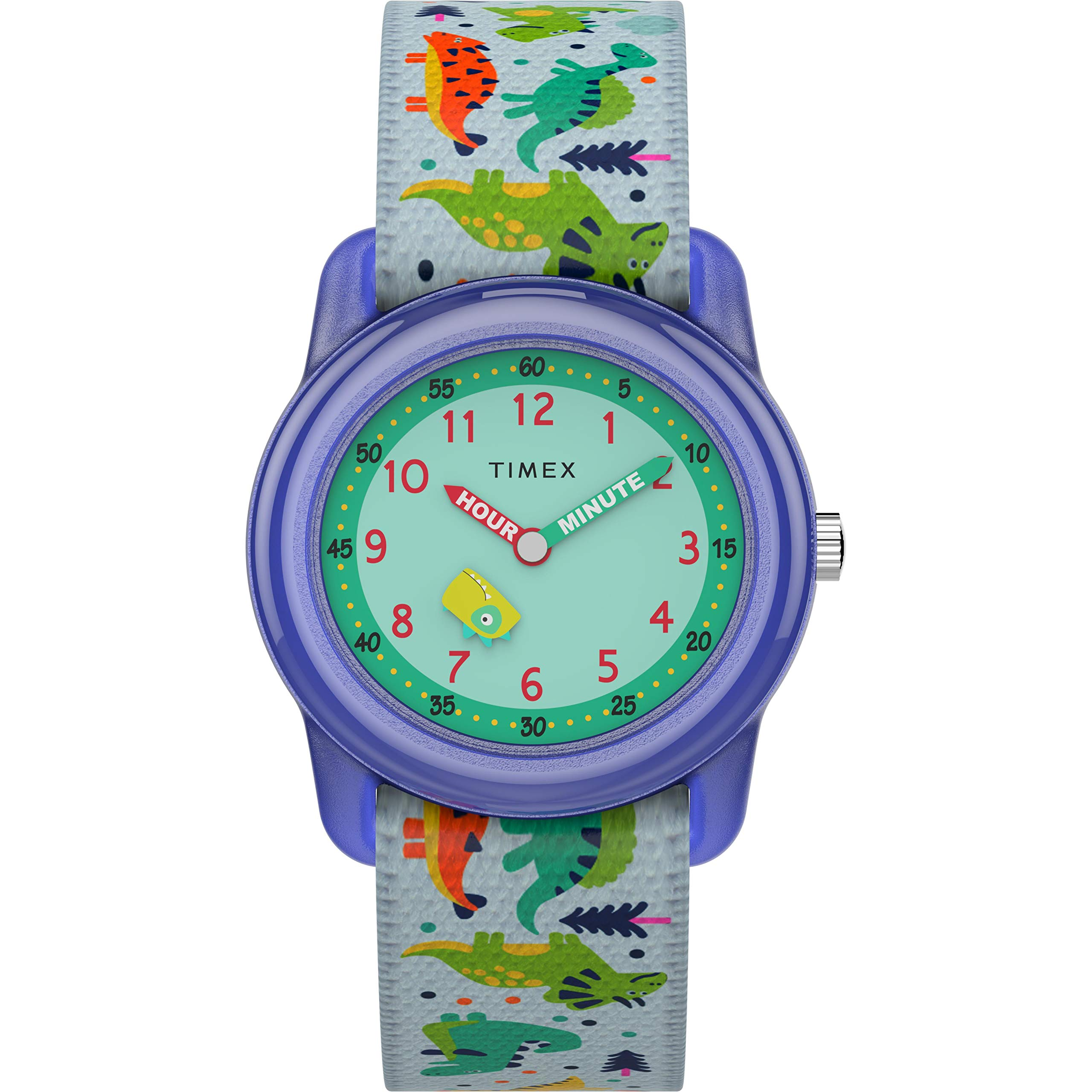 Timex Boys' Time Machines Analog Quartz Nylon Strap, White, 16 Casual Watch (Model: TW7C773009J) by Timex