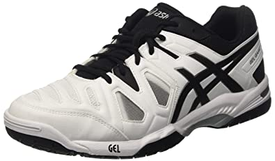 Herren Gel-Game 5 Tennisschuhe, Mehrfarbig (Sky Captain/White/Orange), 42.5 EU Asics