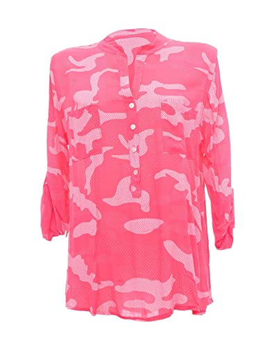 Moda Italy - Camisas - Túnica - cuello mao - para mujer rosa 44