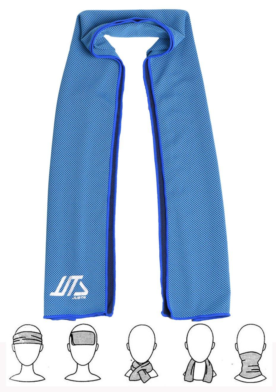 Justa – Toalla de enfriamiento instantáneo, toalla super absorbente para un enfriamiento rápido para deportistas y gimnastas, 30 x 100 cm., ...