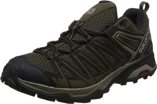 Salomon X Ultra 3 Prime, Zapatillas de Senderismo para Hombre, Gris (WREN/Bungee Cord/Green Sulphur 000), 44 2/3 EU: Amazon.es: Zapatos y complementos