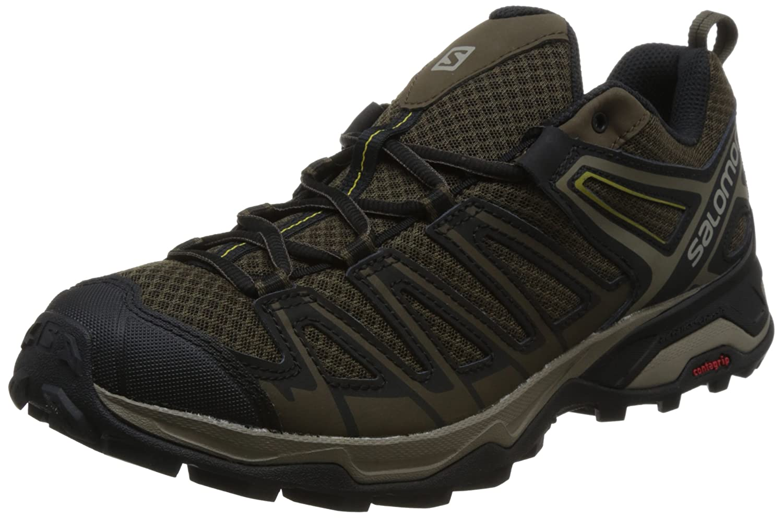 Salomon X Ultra 3 Prime, Zapatillas de Senderismo para Hombre 40 EU|Gris (Wren/Bungee Cord/Green Sulphur 000)