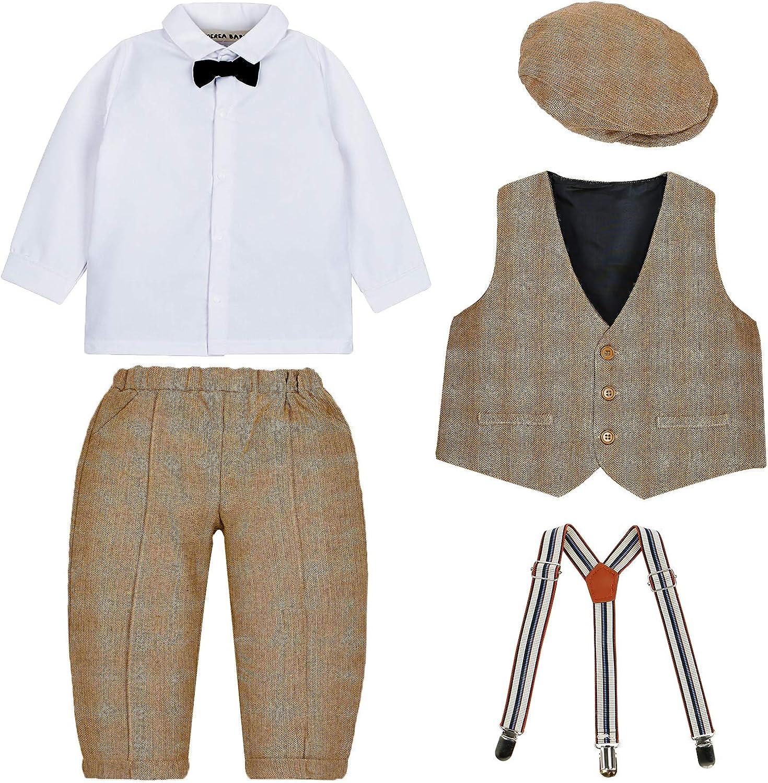 SANMIO Baby Jungen Bekleidungssets Hose Hemd Fliege Krawatte Kinder Anzug Gentleman Festliche Hochzeit Langarm Body f/ür Fr/ühling Herbst