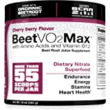 BeetVO2Max - Organic Beet Root Juice Powder + BCAA Amino Acids, Vitamin B12 & L-Arginine | Nitric Oxide Booster Supplement | Non-GMO Hyper Endurance Formula
