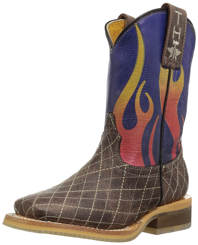 Tin Haul Shoes Boys Blaze Western Boot 9 D US Toddler Brown