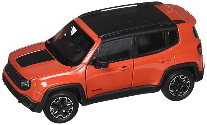 Jeep Renegade Orange >> Welly New Diecast Toys Car 1 24 W B Jeep Renegade Trailhawk Orange Color 24071w Or