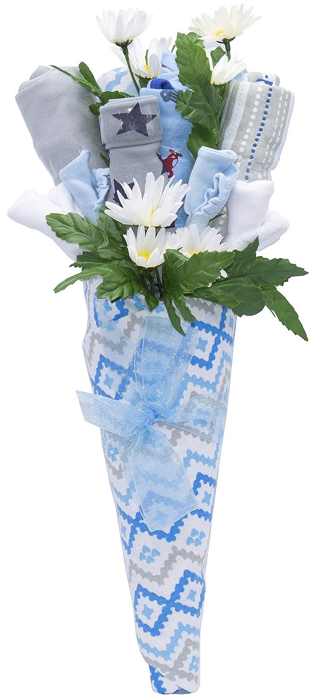 B073V6H1V3 Nikki's New Baby Blossom Clothing Bouquet Gift (Blue or Pink) | Baby Boy 81hxVRVgj4L