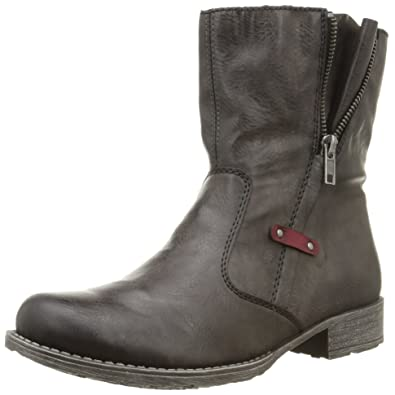 Amazon.com | Rieker Women Ankle Boots grey, (46°fumo/wine) 70881 ...