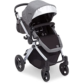 J Is For Jeep Brand Sport Utility All Terrain Stroller, Grey On Silver Frame