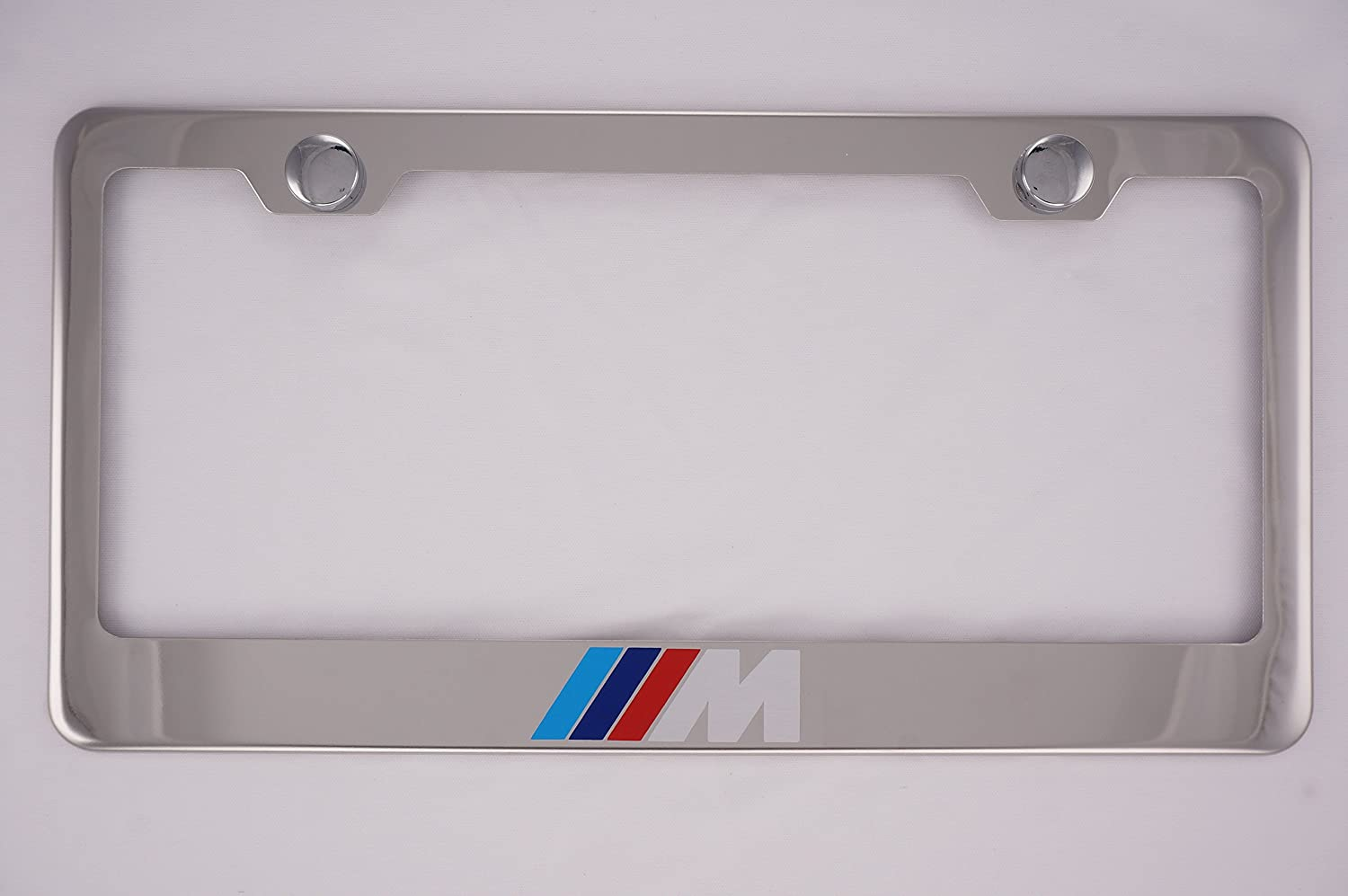 BMW M Chrome License Plate Frame with Caps PCR 1BS-M