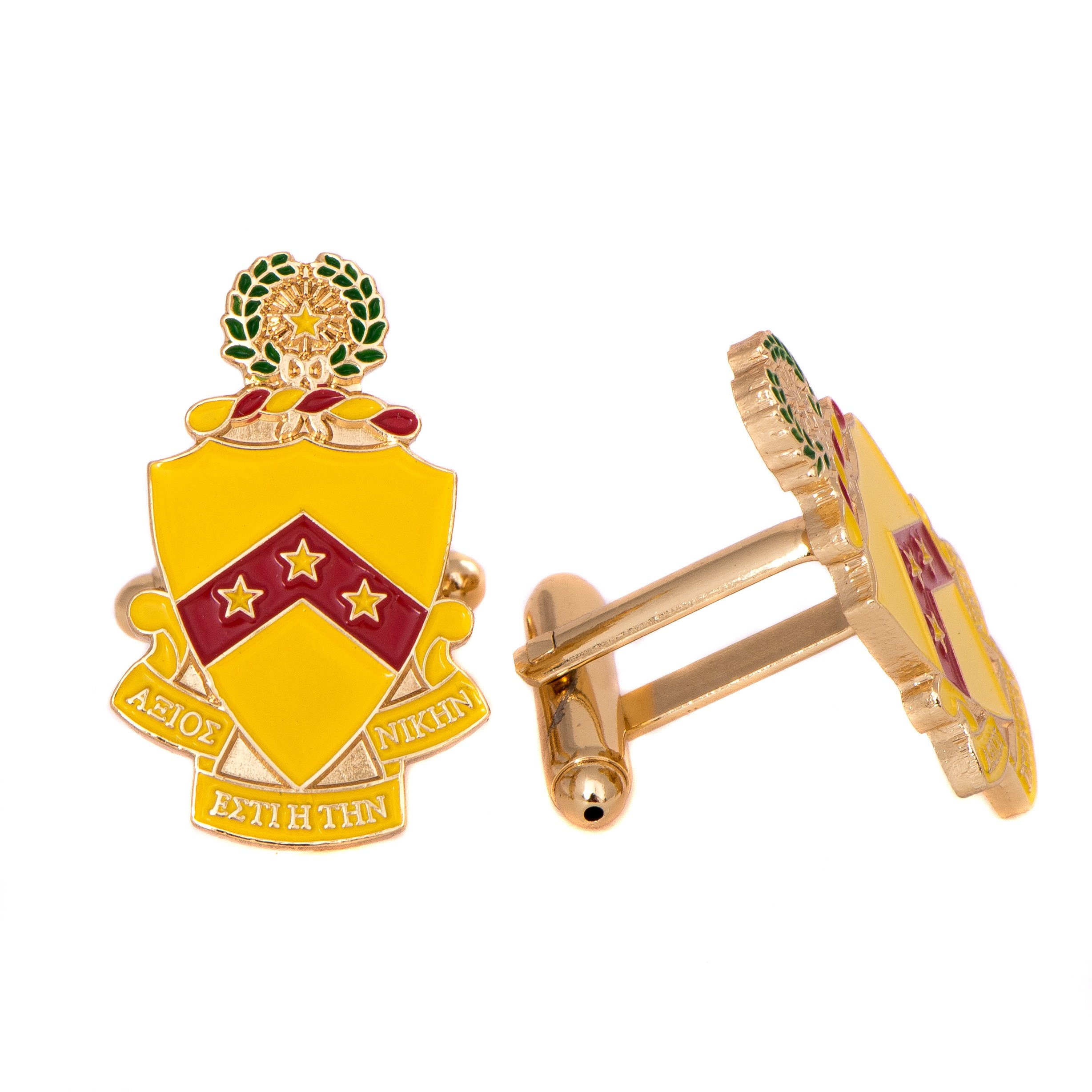 Desert Cactus Phi Kappa Tau Fraternity Crest Cufflinks Greek Formal Wear Blazer Jacket