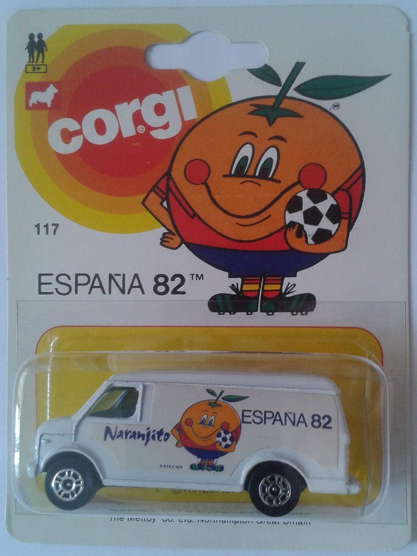 Corgi Blister DE ÉPOCA FURGÓN Furgoneta Naranjito Mundial FÚTBOL ...