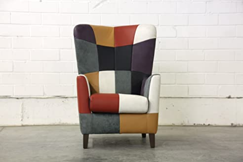 Design Ohrensessel in Patchwork - Made in Germany: Amazon.de ...