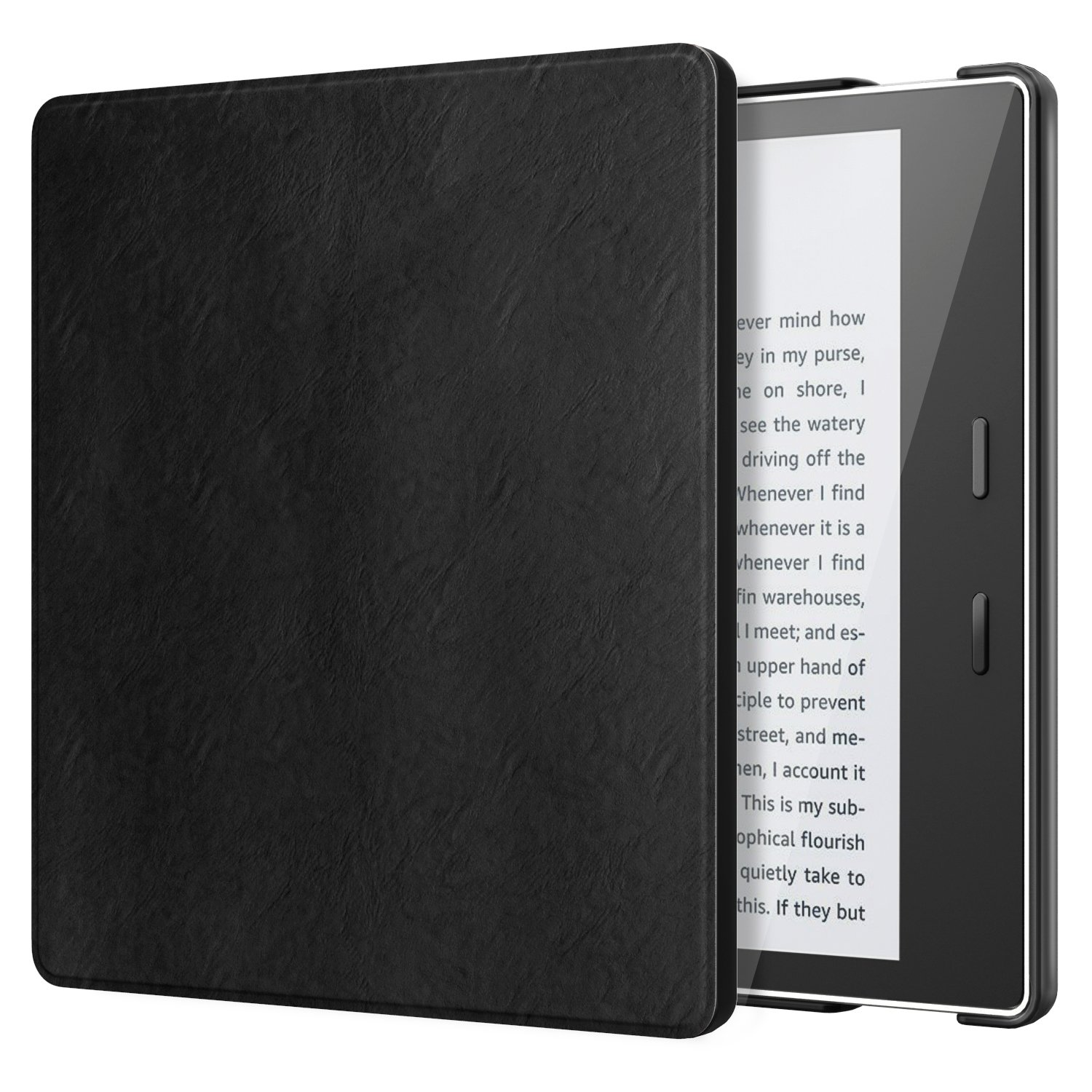 TiMOVO All-New Kindle Oasis Case (9th Generation, 2017 Release) - Lightweight Slim PU Leather Protective Case with Auto Wake & Sleep Function for Amazon Kindle Oasis E-reader 7 Inch, Black