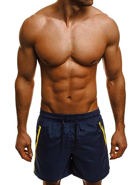 OZONEE Hombre Bañadores de natación Bañador Pantalones cortos de baño Traje de baño SNATCH 001 h2MtT