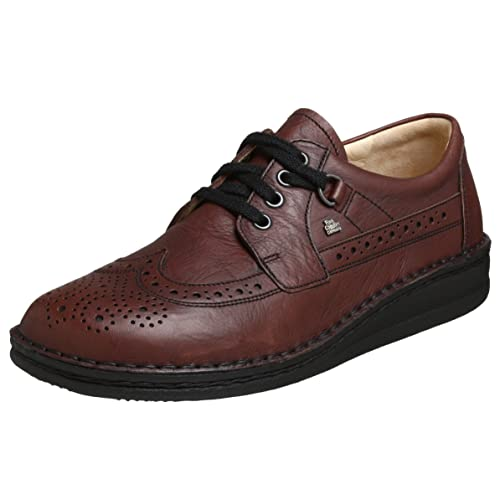 Finn Comfort York Mens Brogue Lace Up Shoes,Brown (Espresso Togo), 10.5