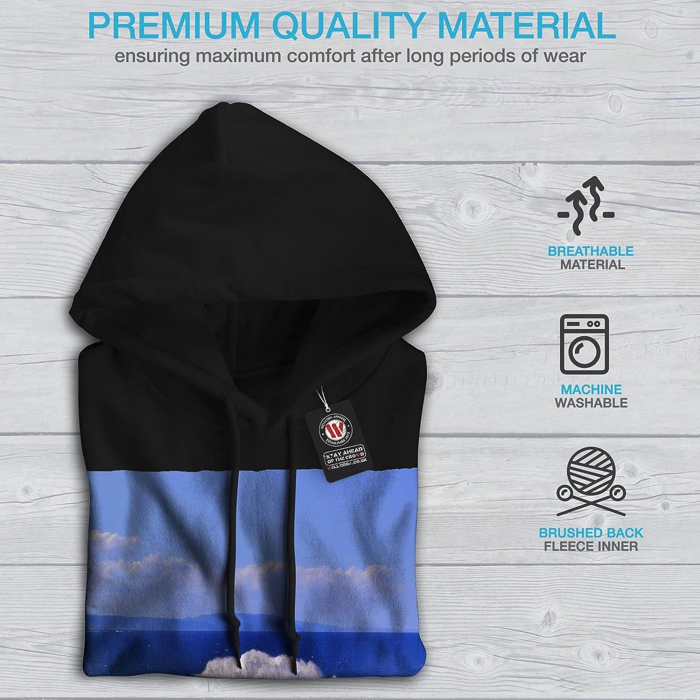 Blue Hooded Sweatshirt wellcoda Water Spring Photo Mens Hoodie