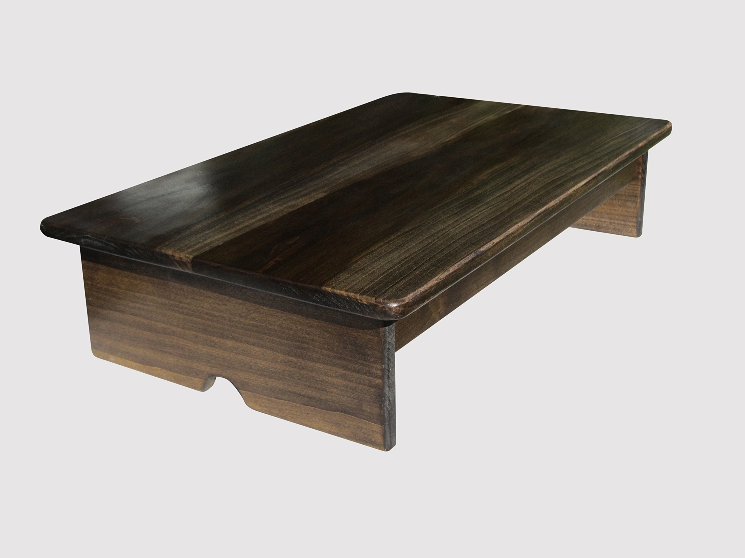 Bedside Platform Foot Stool 7'' Tall Walnut Stain (Made in the USA) by KR Ideas