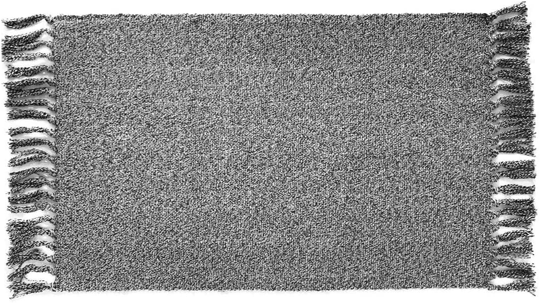Ukeler Cotton Rug Decorative Reversible Woven Rag Rug for Porch/Doorway/Kitchen/Bathroom/Entryway, 23.6''x35.4'', Grey