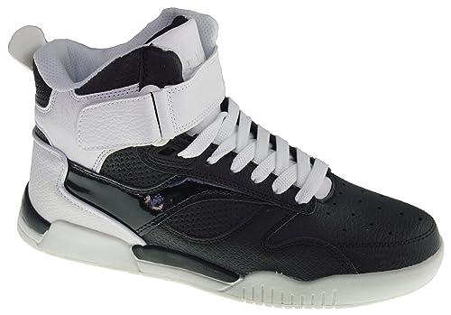 De-Angelwings - Zapatillas de cuero sintético para hombre 42, color blanco, talla 43 EU