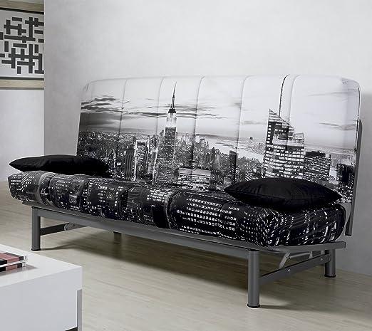 duehome Sofa Cama Sistema Clic clac tapizado New York ...