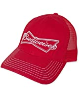 Budweiser Embroidered Logo Snapback Trucker Hat