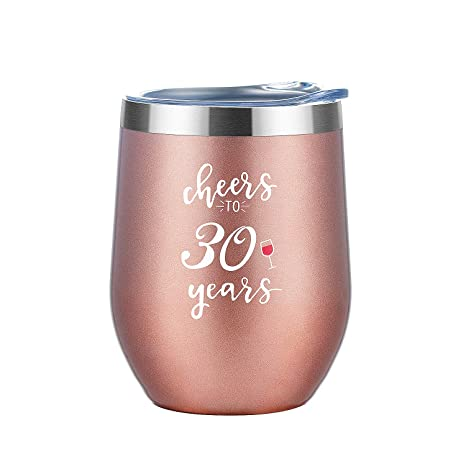 Amazon.com: Vaso de vino de acero inoxidable con tapa, 12 ...