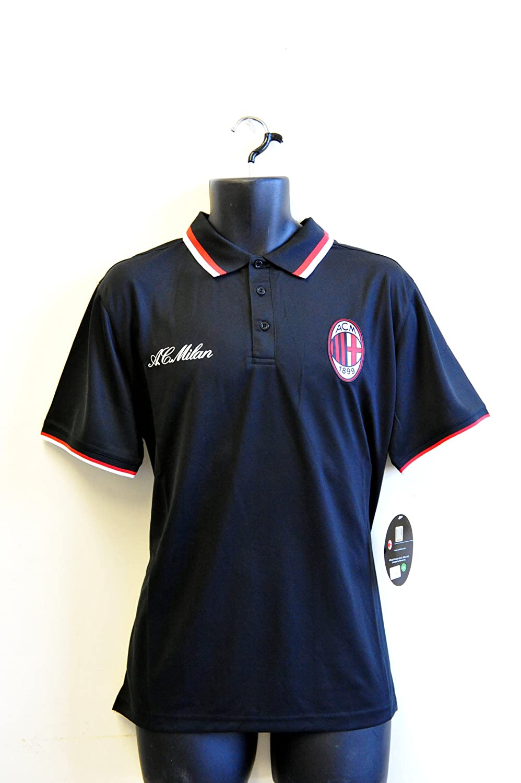 Rhinox AC Milan Equipo Logo Polo Camisa – 002 - POLO-ACM-002, Azul ...