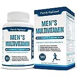 Premium Multivitamin for Men - Vitamin C, D3, B12, Minerals, Organic Whole Foods, Antioxidants, Probiotics - Complete Men's M
