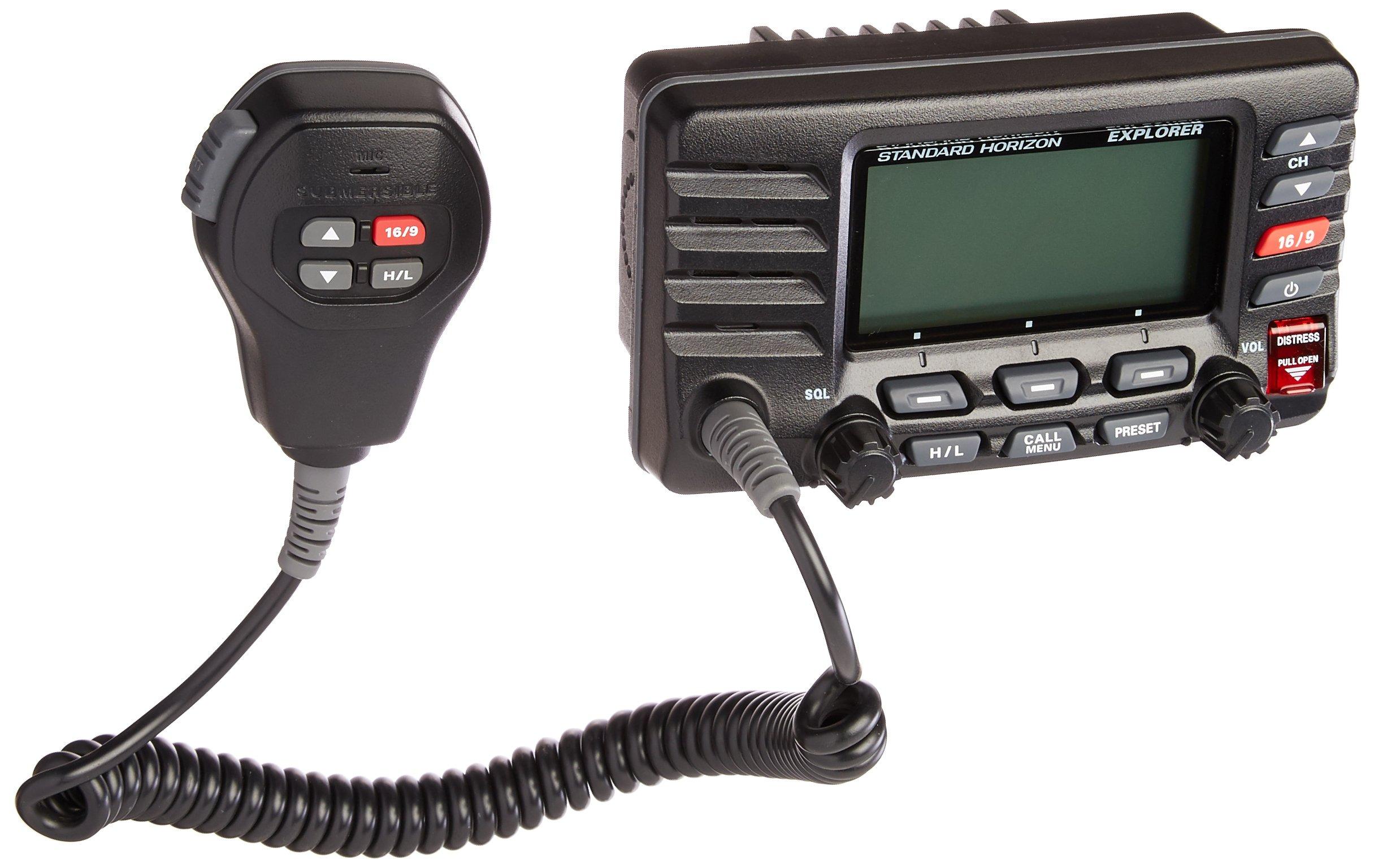 Standard Horizon GX1600B Standard Explorer VHF Marine Radio - Black by STANDARD HORIZON