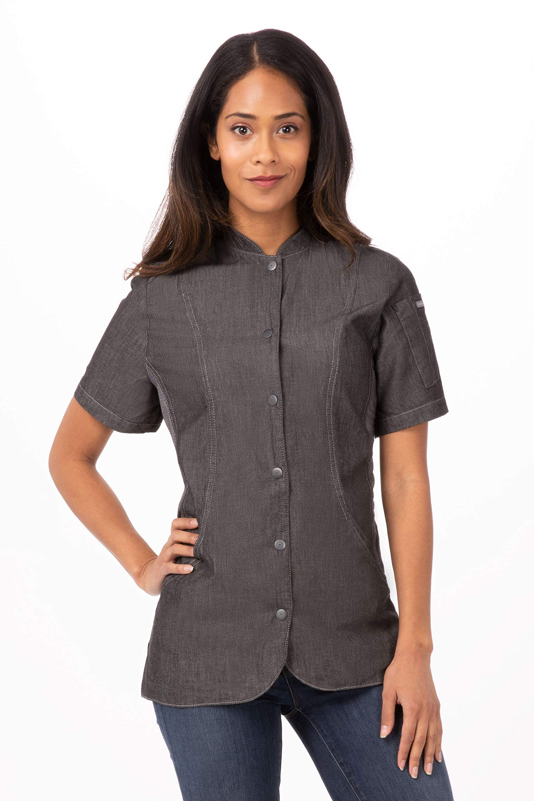 Chef Works Women's Chelsea Chef Coat, Black, X-Small by Chef Works