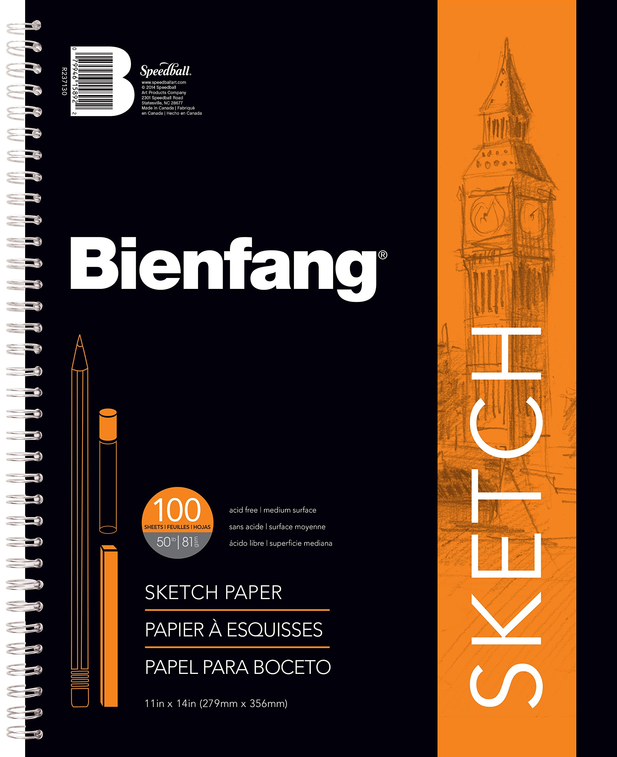 Bienfang 11 by 14-Inch Sketchbook, 100 Sheets by Bienfang