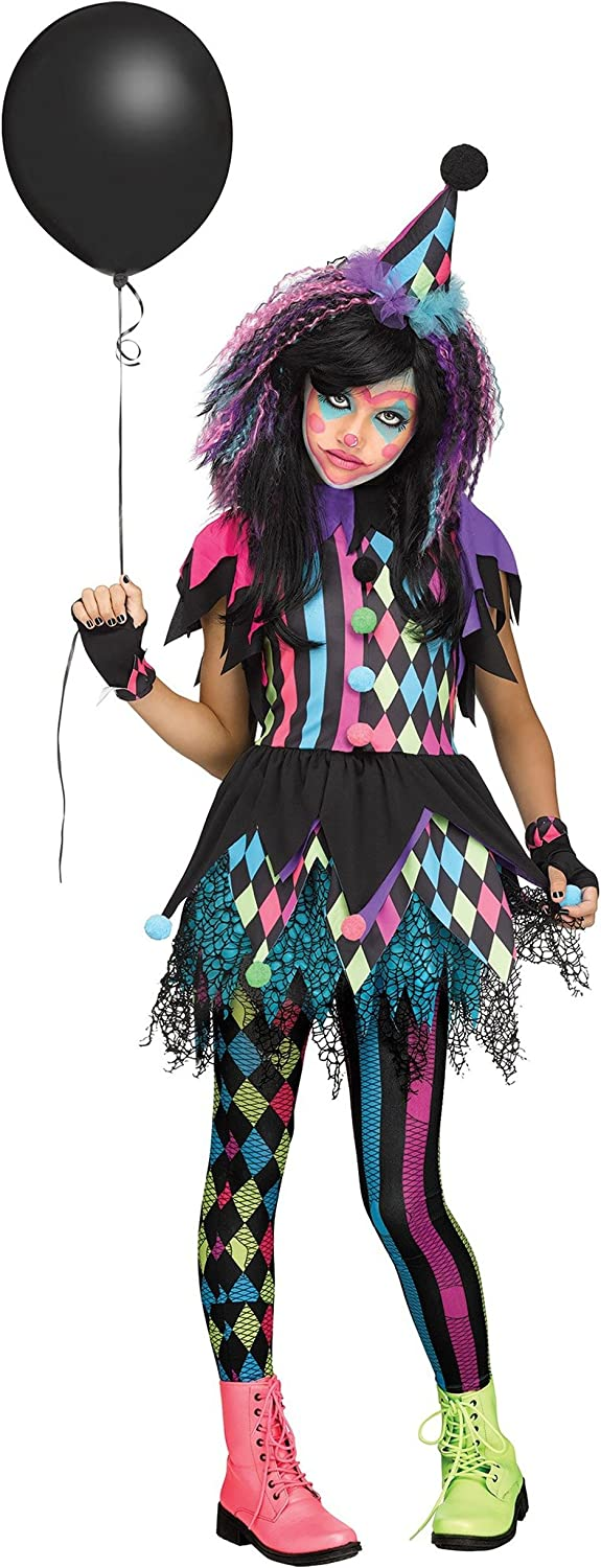 Clown Halloween Costumes For Girls.Amazon Com Girls Twisted Circus Clown Costume Toys Games