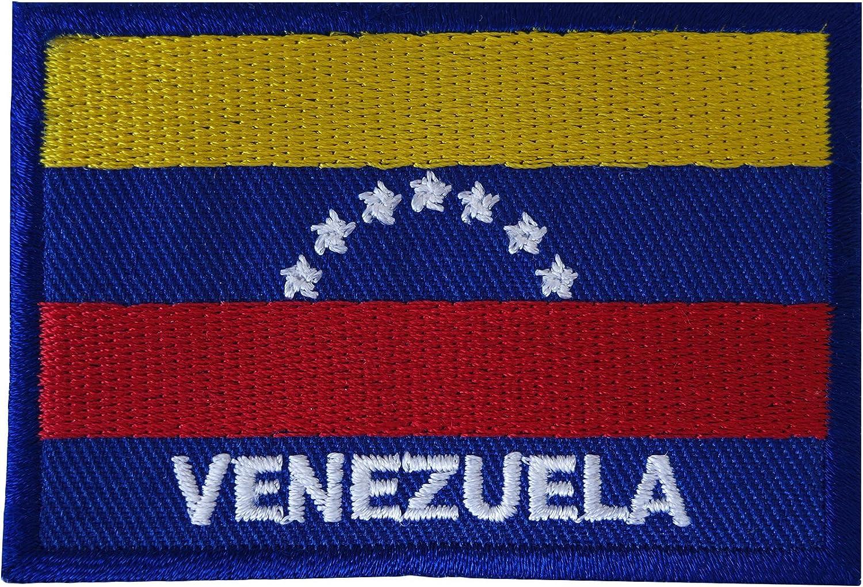 Parche bordado con la bandera de Venezuela para coser en América del Sur: Amazon.es: Hogar