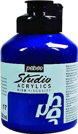 Pébéo Peinture Acryliques Pot De 500 Ml Bleu De Phtalocyanine