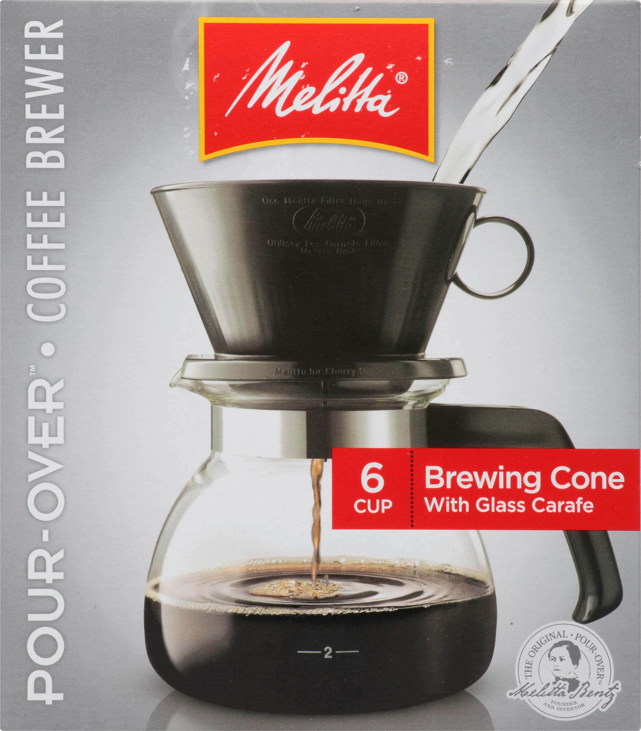 Melitta 6-Cup Pour-Over Coffee Brewer w/ Glass Carafe by Melitta