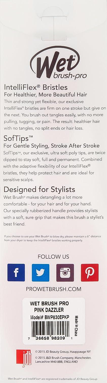 Wet Brush Pro Detangle Hair Brush, Metallic Purple