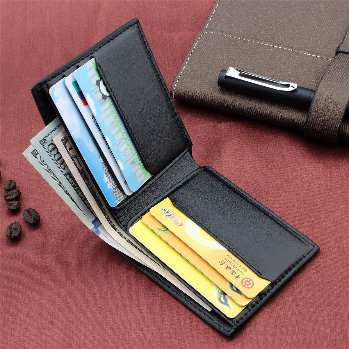 RFID Blocking Bifold Leather Wallet for Men - Best Gifts for Business Anniversary by HAWSON (Image #3)