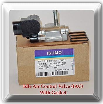 MOTOALL Idle Air Control Valve IACV IAC with Gasket for Honda CRV Odyssey Pilot Accord Acura TL CL MDX 16022-P8A-A01 16022-P8A-A02 16022-P8A-A03