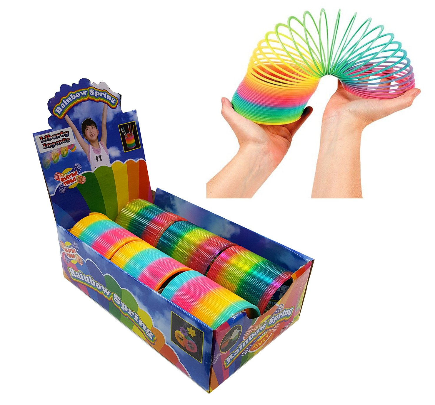 Liberty Imports Giant Magic Rainbow Springs | Classic Novelty Toy Bulk Party Favor | 4-inch (Set of 6)