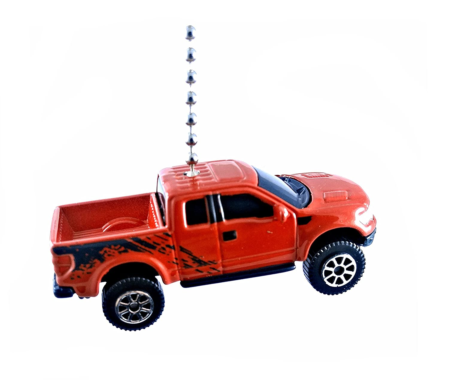 Ford Compatible Truck Diecast Ceiling Fan Light Pulls 1 64 Diecast 2016 Ford Raptor Svt Red
