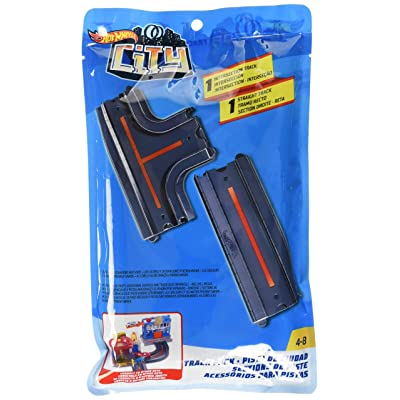 Hot Wheels Track Pack Accessory - Straight + Intersection: Toys & Games