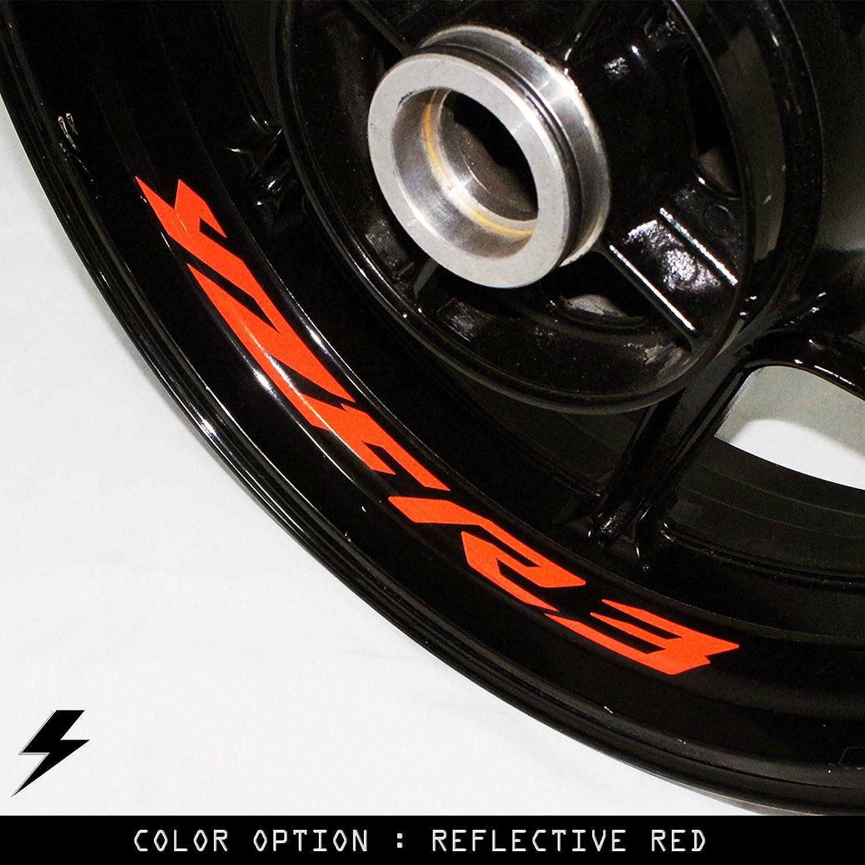 Amazon com yamaha yzf r3 motorcycle inner rim sticker stripe rw automotive