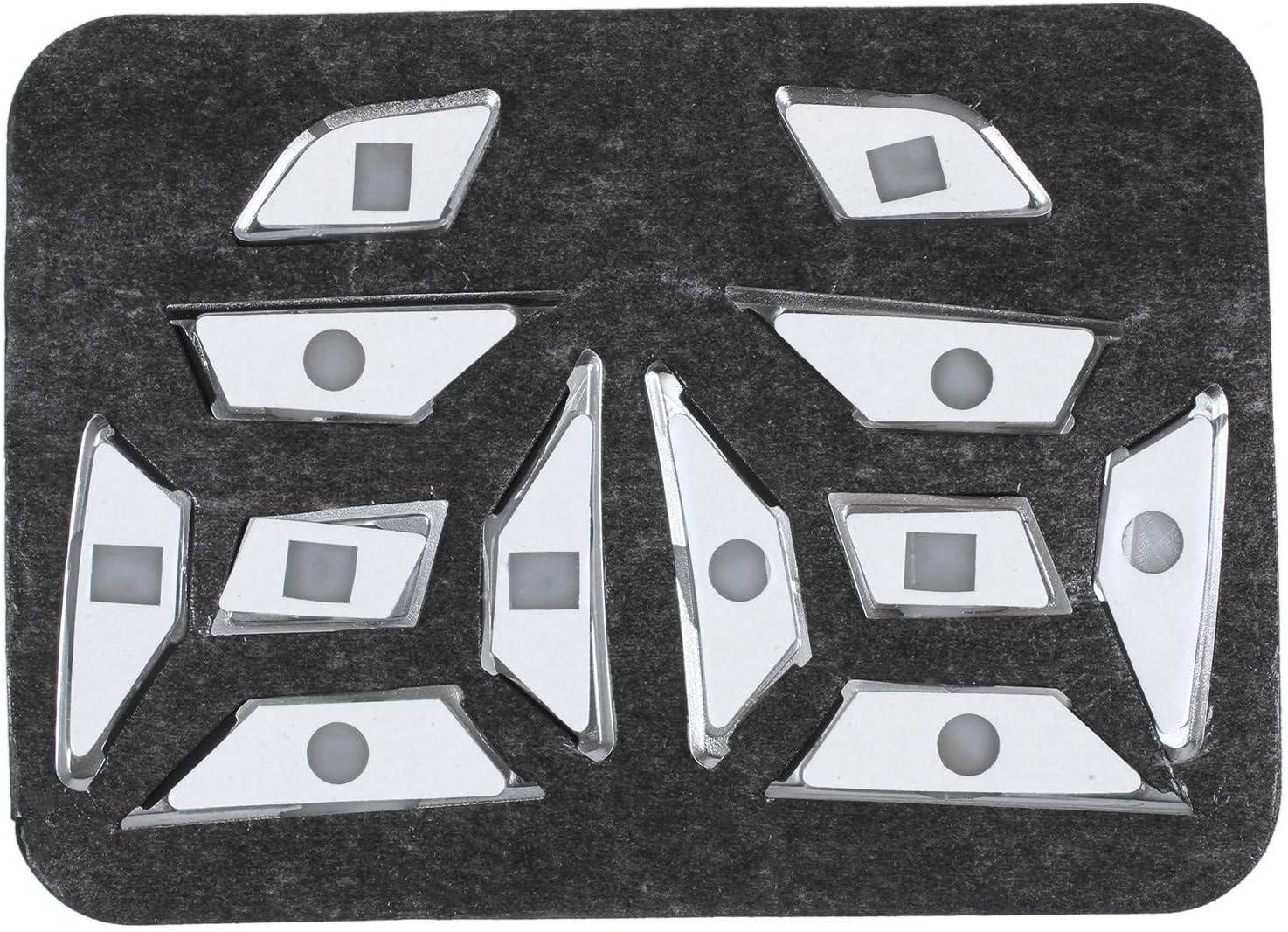 Kirmax Lenk Rad Taste Schalter Trim Abdeckung Aufkleber F/ür Mercedes A B C E Ml Gl Cla Gla Glk Sl SLK Class W176 W246 W212 W204