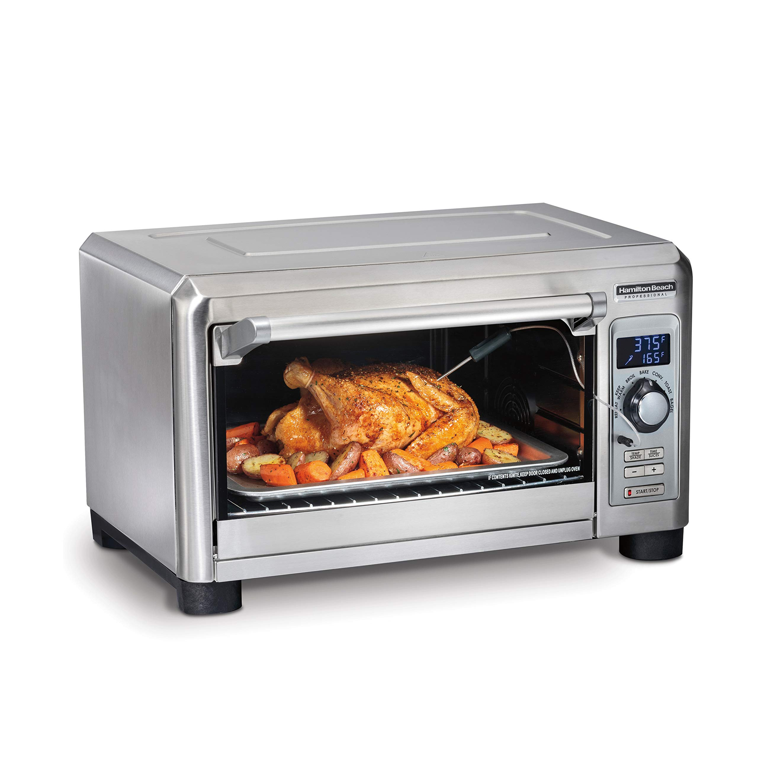 Hamilton Beach Professional Countertop Toaster Oven, Digital, Convection, Large 6-Slice, Temperature Probe, Stainless Steel (31240), by Hamilton Beach (Image #1)