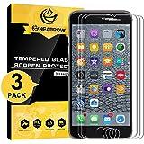[3 Pack] iPhone 6s Plus/6 Plus 5.5 Protector de pantalla, nearpow [3d Touch Compatibles - ] Protector de pantalla de cristal templado con [Dureza de 9H] [Crystal Clear] [sin burbujas] [rasguño Resist