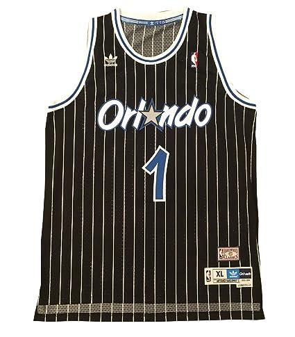 f982abffb ... Anfernee Penny Hardaway Autographed Orlando Magic Black Swingman Signed  Basketball Jersey JSA COA at Amazons Sports ...