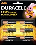 Duracell R 03 AAA Alkaline Long Lasting Batteries (Pack of 6)
