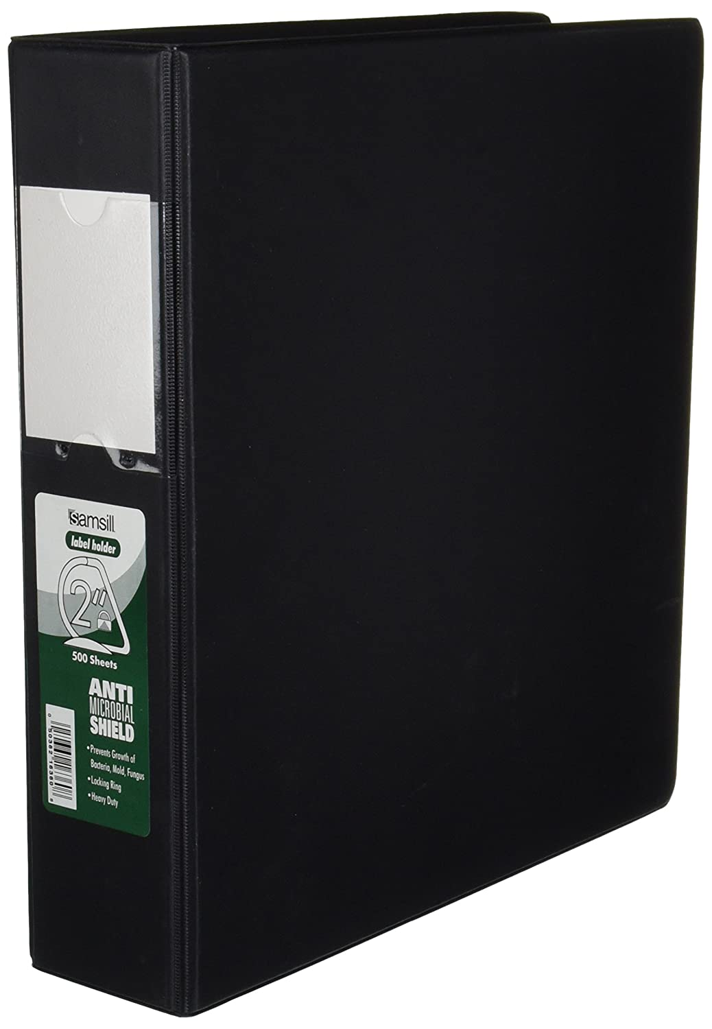 4 Inch Capacity Reference Binder with Label Holder Protected by Antimicrobial Additive Samsill 14392 Clean Touch 3 Ring Binder Locking Round Ring Blue