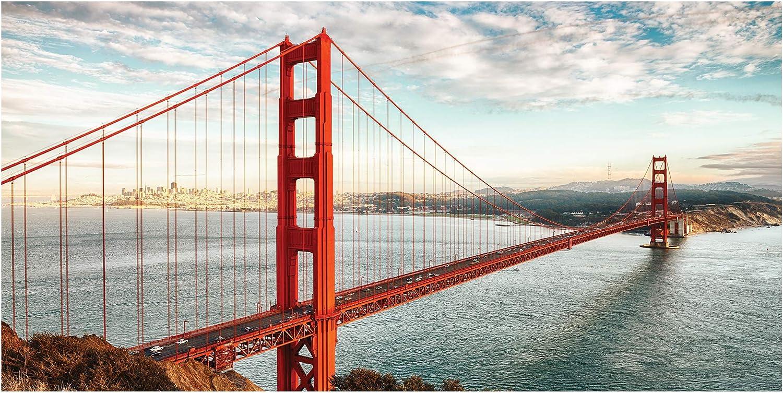 Made in Holland San Francisco 70x140 cm Golden Gate Bridge LimeWorks Badetuch 100/% Baumwolle